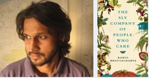 Rahul Bhattacharya and his shortlisted novel.