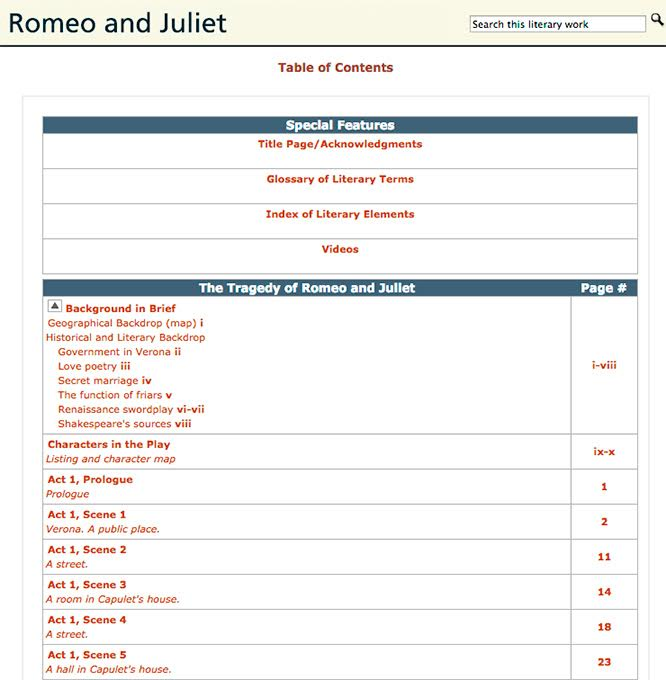 literary devices in romeo and juliet